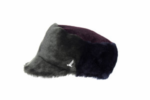 Dark Green and Brown Unisex Fur Cap