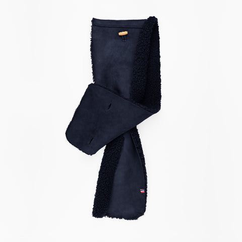 Sheepskin Dark Blue Scarf