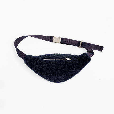 Sheepskin Dark Navy Blue Bum Bag