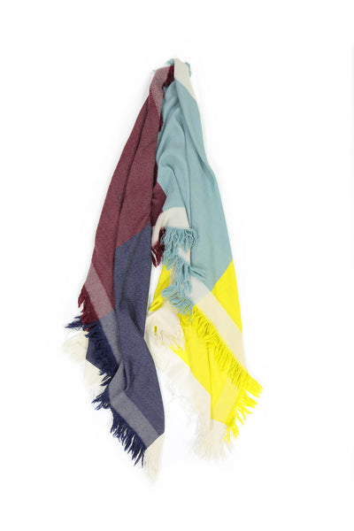 Blue and Bright Yellow Scarf