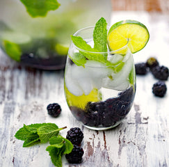Infused Water Idea - Blackberry Mint Water