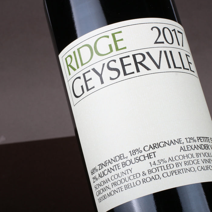 Special Offer - Ridge Geyserville Zinfandel Blend 2017