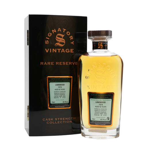 1974 Signatory Linkwood 42 Years Speyside Single Malt Whisky 1974 40.9%