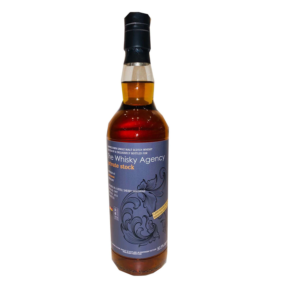 1997 The Whisky Agency Springbank 21 Years Refill Sherry Single Cask Whisky