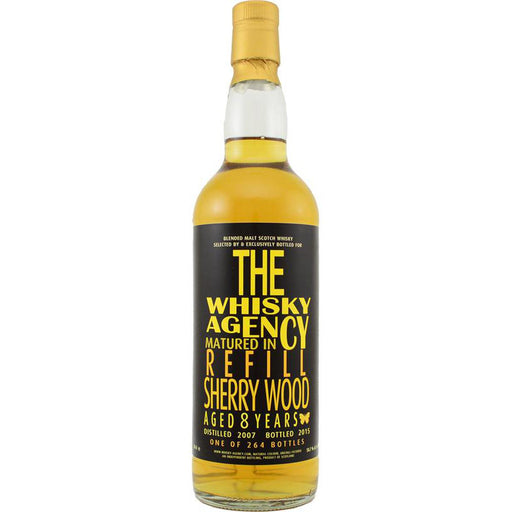 2007 The Whisky Agency 8 year Sherry Wood Sigle Malt Whisky