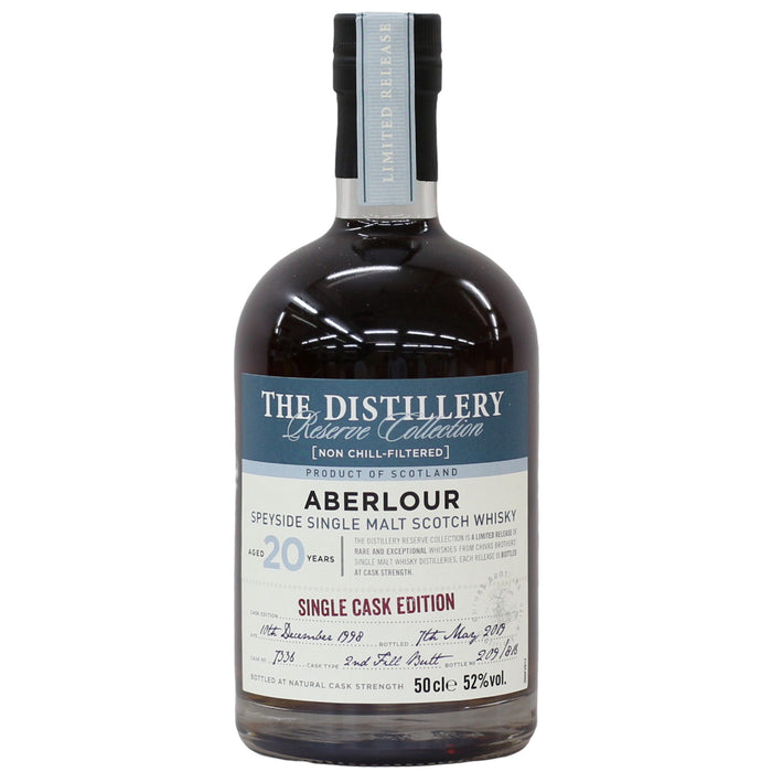 The Distillery Reserve Collection Aberlour Single Cask 20 Year Old Single Malt 52% (Bottled 2019) (500 ml)