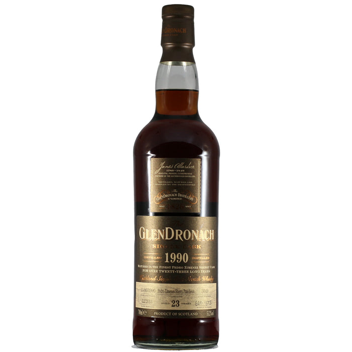 1990 GlenDronach 23 Years Single Cask Single Malt Scotch Whisky (700 ml)