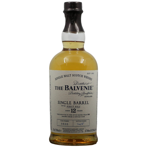 Balvenie 12 Years First Fill Bourbon Single Barrel Whisky
