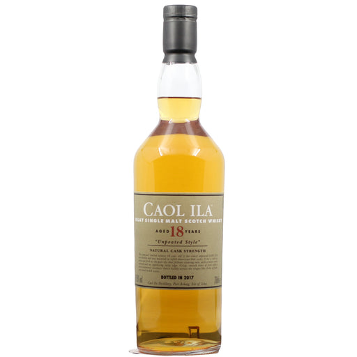 2017 Caol Ila 18 Years Unpeated Style Cask Strength Whisky