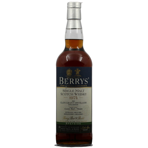 1974 Berry Bros & Rudd Glen Grant 37 Years Sherry Cask Cask Strength Whisky
