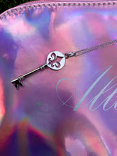 Load image into Gallery viewer, Fleur de Lis Paris Key Necklace