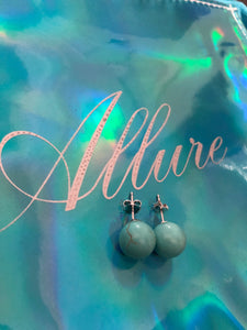 Blue Hawaiian Turquoise Earrings