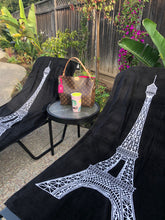 Load image into Gallery viewer, Eiffel Tower Beach Towel