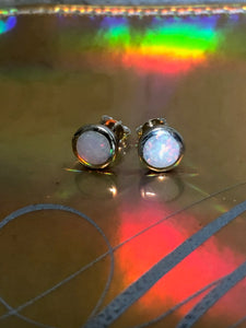 Fiery Opal Earrings