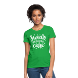 I Swear Because I Care Women's T-Shirt - bright green