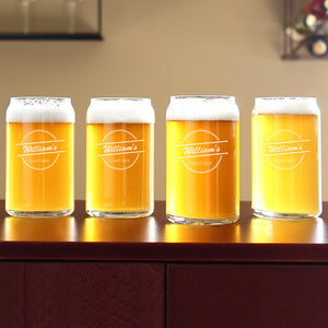 Home Brew Can Glasses (Set of 4)