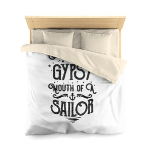 Soul of a Gypsy Mouth of a Sailor Microfiber Duvet Cover