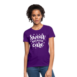 I Swear Because I Care Women's T-Shirt - purple