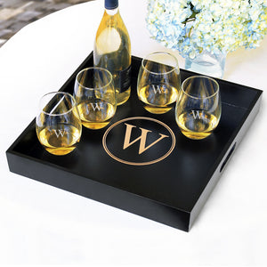 "Personalized 16"" Wooden Serving Tray"