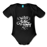 Witch Better Have My Candy Organic Short Sleeve Baby Bodysuit - black