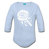 Official Candy Tester Organic Long Sleeve Baby Bodysuit - sky