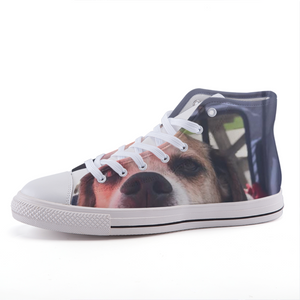 The Oscar Customizable with your own picture High-top fashion canvas shoes