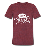 Wicked Unisex Tri-Blend T-Shirt - heather cranberry