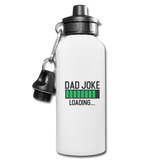 Dad Joke Loading Water Bottle - white