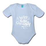 Witch Better Have My Candy Organic Short Sleeve Baby Bodysuit - sky