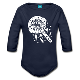 Official Candy Tester Organic Long Sleeve Baby Bodysuit - dark navy