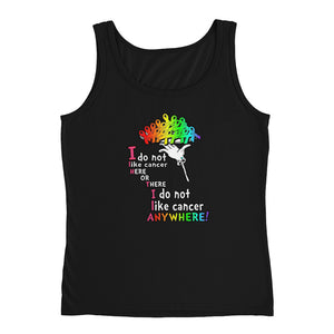 I do not like Cancer Ladies' Tank