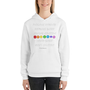 Please Kindly Remove Your Crown Chakra From Your Root Chakra unisex hoodie