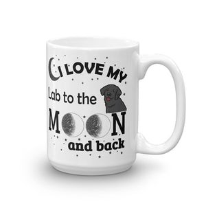I love my Lab to the moon and back Mug, Gift, Gift Ideas, Dogs
