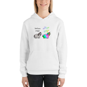Before and After Yoga unisex hoodie