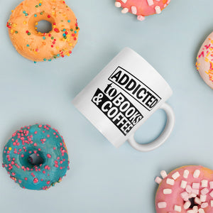Addicted to Books and Coffee Mug, Gift mugs