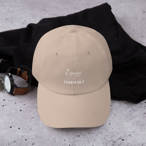 Queens are Born in February Embroidered Dad hat