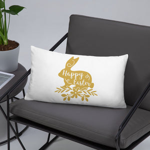 Happy Easter Bunny Basic Pillow