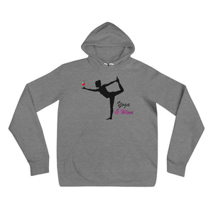 Yoga and Wine unisex hoodie