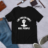 I do yoga so I don't kill people Short-Sleeve Unisex T-Shirt