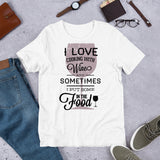 I love cooking with wine and sometimes I put some in the food Short-Sleeve Unisex T-Shirt
