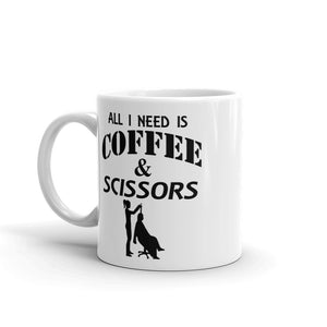 All I need is coffee and scissors Mug, Hairdresser gift, Gift