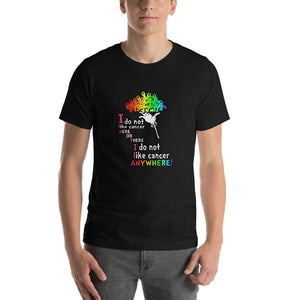 I do not like cancer Men's short sleeve t-shirt