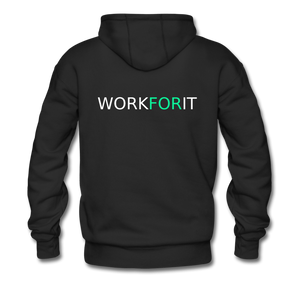 Work For It Heavyweight Premium Hoodie - black