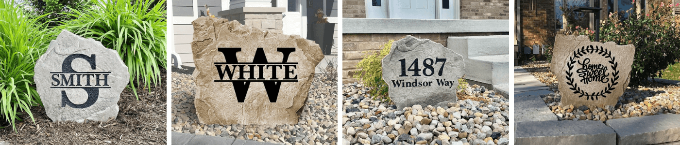 Design A Stone - Personalized Landscape Stones and Garden Rocks!