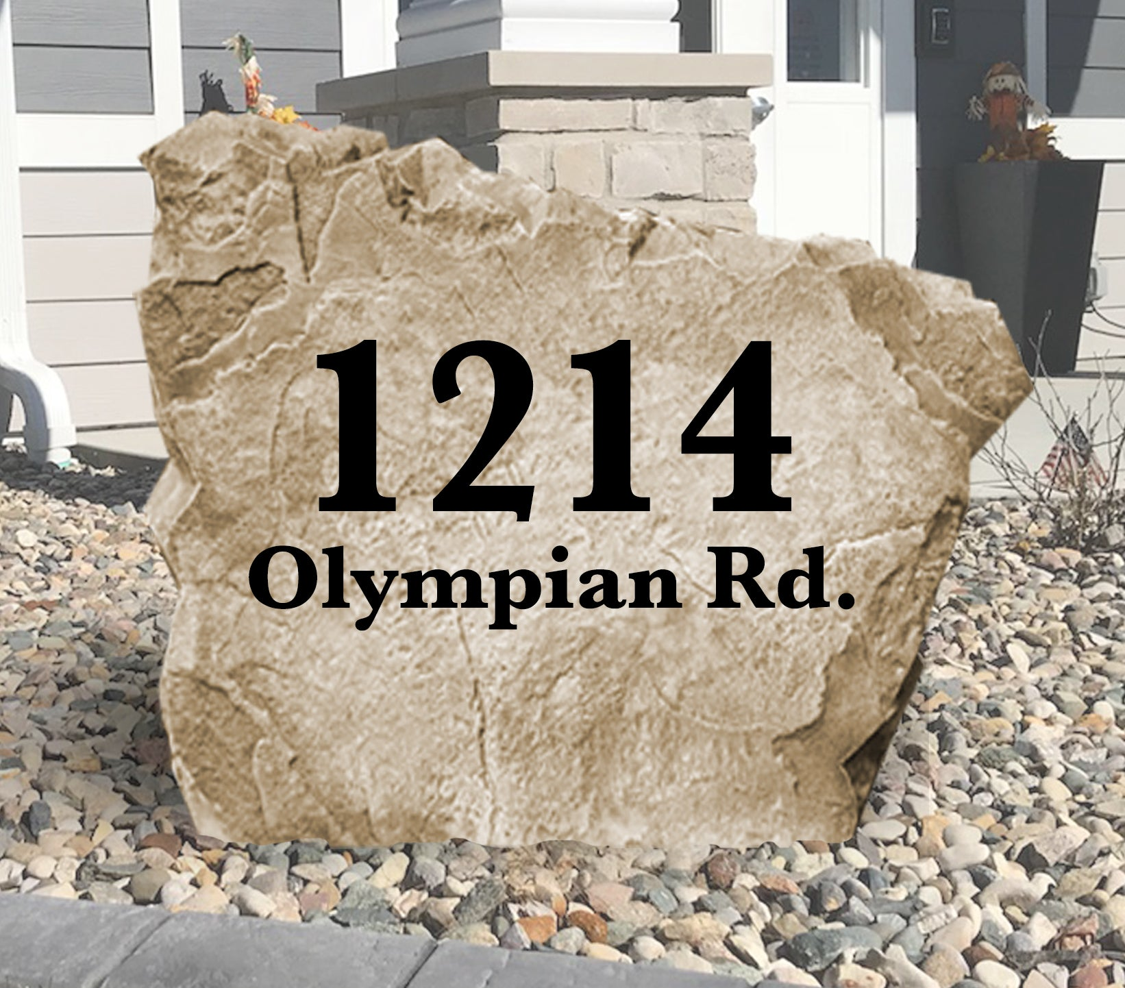Standard Address Stone-Design A Stone