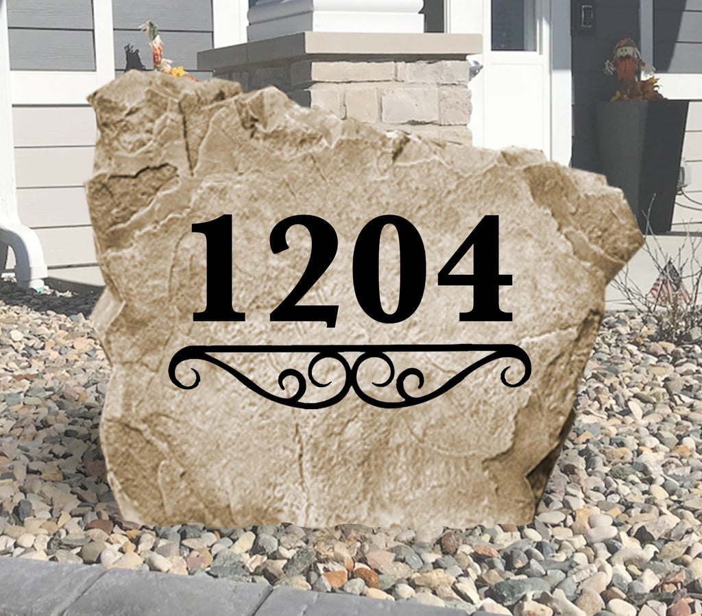 Address Number Stone-Design A Stone