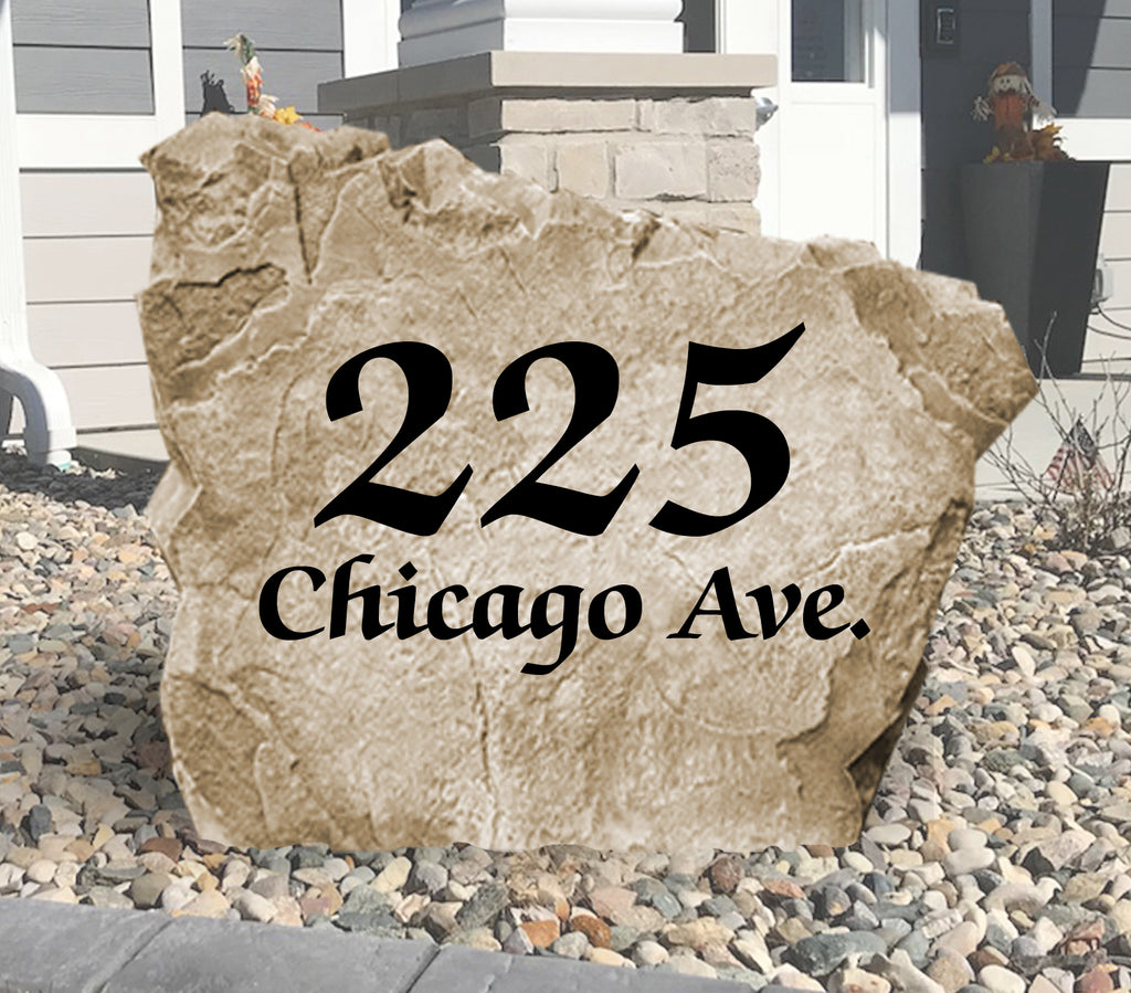 Elegant Address Stone-Design A Stone