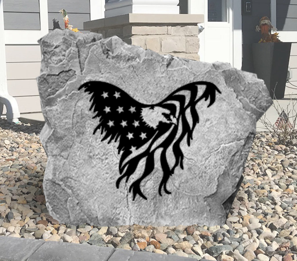 Eagle Flag Stone-Design A Stone