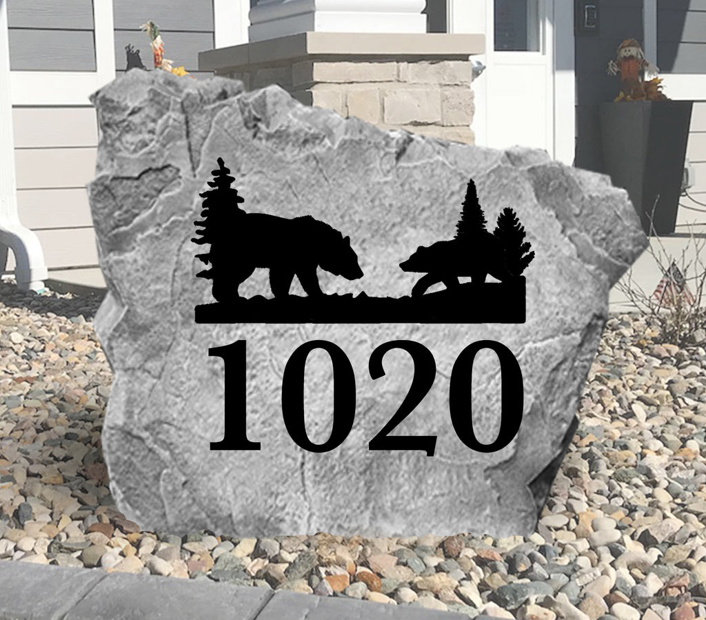Bear Address Stone-Design A Stone
