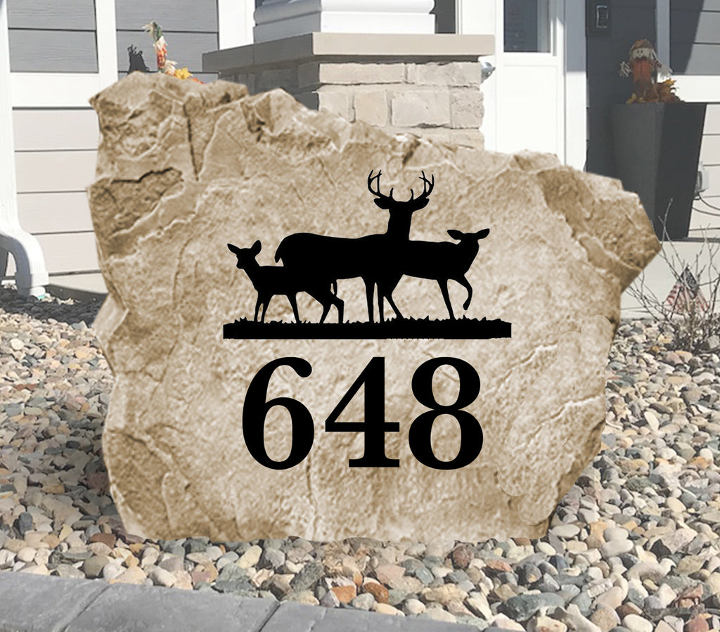 Deer Address Stone-Design A Stone